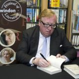 Simon Heffer signs copies of his book Image ©Calyx Pictures