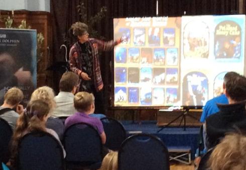 Children's author Caroline Lawrence at Marlborough Literature Festival