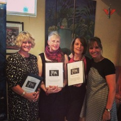Left: Claire Dyer, Lesley Saunders, Susan Utting and festival organiser Hilda Sheehan.