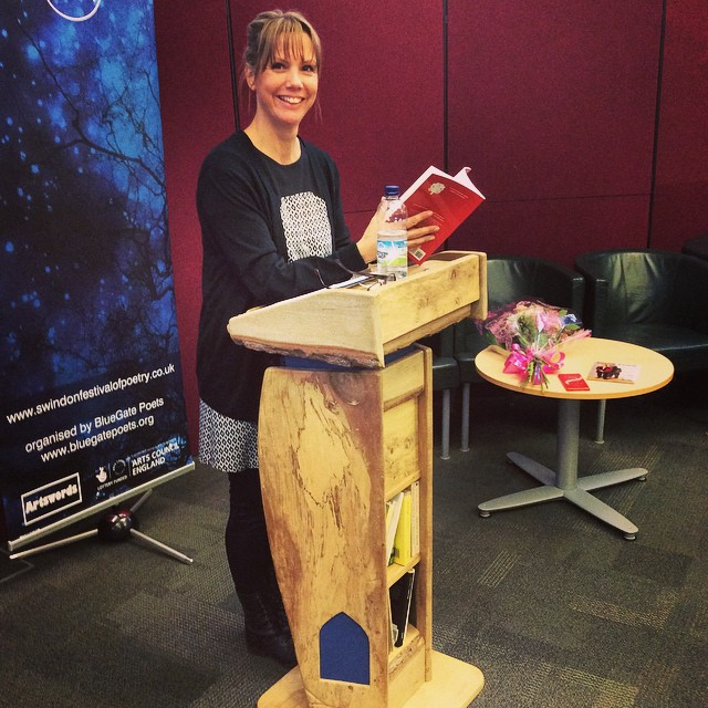 Hilda Sheehan and the home made lectern