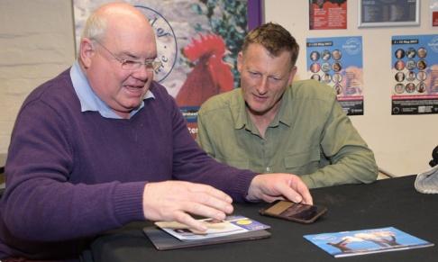 Radio presenter Steve Ryder (left) with Benedict Allen