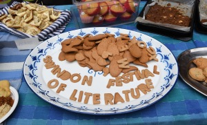 Lit fest launch biscuits