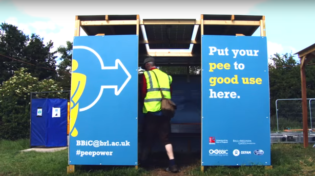 Photo of Pee Power loos at Glastonbury Festival